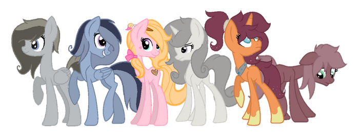 New OCs Group Picture by sharpster25