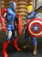 captain america and iron patriot by SpudaFett