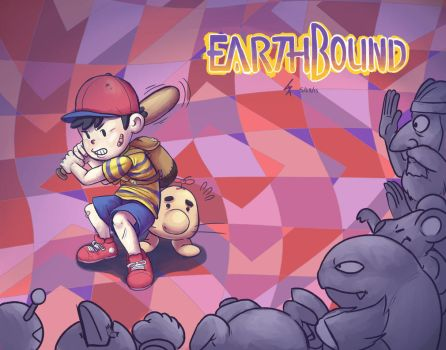 Earthbound all Around by Artsenseiofdreams