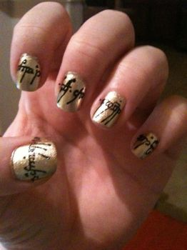 Tolkien on geek nails deviantart ineedacat9 13 5 lotr the one ring nail art part 1 by ineedacat9 prinsesfo Images