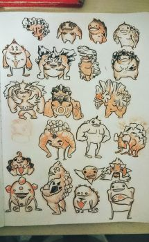 doodle of the day: gorons! by Solocell