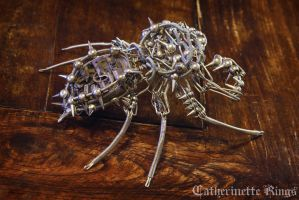 Steampunk Clockwork Spiky Archanid by CatherinetteRings