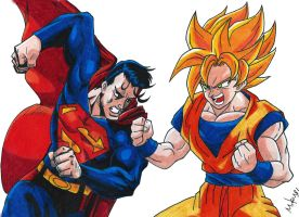 Superman Vs Goku by MikeES