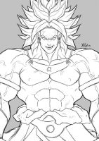 Broly Sketch by Xelgot