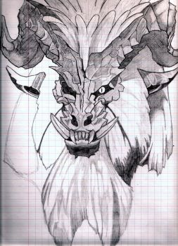 Unfinished Teostra by demonkiss-666