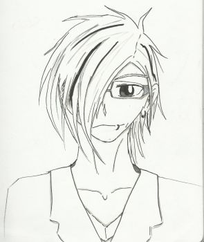 Random Emo Black and White Guy by Lolipopzrwild