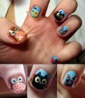 Animals nails by ItsMyUsername