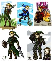 Wind Waker Links by Meibatsu