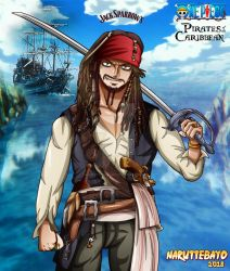 [colo] Jack Sparrow One Piece by Naruttebayo67