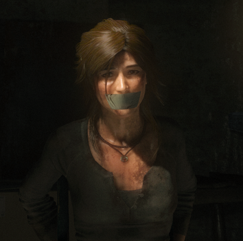 Rise of the Tomb Raider: Lara chairtied by benja100
