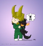 A Trickster and His Dog by TwinTwosGirl