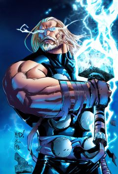 Joe Mad Thor Inks By Color Cdelacruz by Vassya