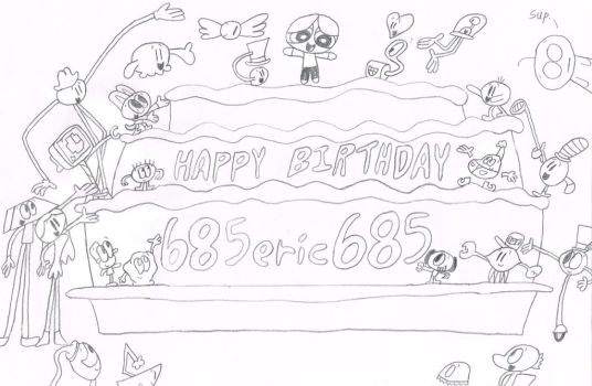Happy Birthday 685eric685 by thecrazyworldofjack