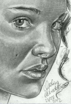Padme Sketch Card by AngelinaBenedetti