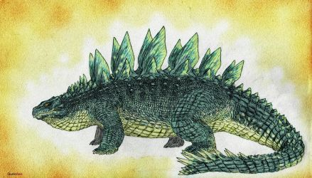 Land of Scales: Thyreos (Stegosuchus) by Quinn-Red