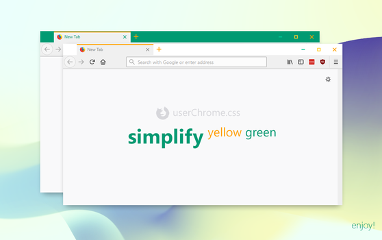 Simplify Yellow Green for Firefox (userChrome.css) by dpcdpc11
