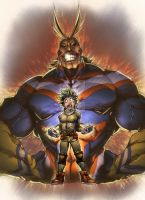IZUKU MIDORIYA n ALL MIGHT by marvelmania