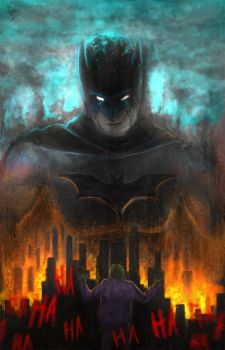 The Dark Knight by W-E-Z