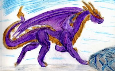 Running purple by DreadstormFirewalker