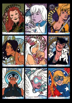 Women of Legend Sketchcards 01 by Guy-Bigbelly