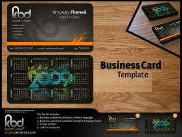 Business Card Template by Krzyho