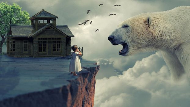 Big Bear With Small Child Photo Manipulation by Papon-Graphics