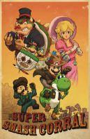 Super Mario at the Super Smash Corral by BritAndBran