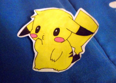 pikachu sticker by amyosaurus-rex