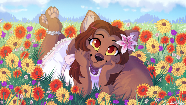 Flower Field - Commission by sbneko