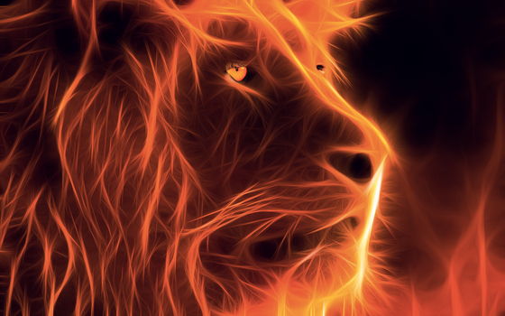 Fire Lion by fnaf-foxina-the-fox