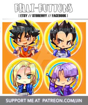 Dragon Ball Z button set by jinyjin