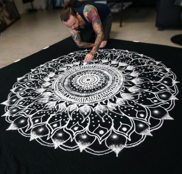 Large Salt Mandala by AtomiccircuS