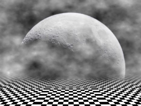 Background Moon and Floor by Ivette-Stock