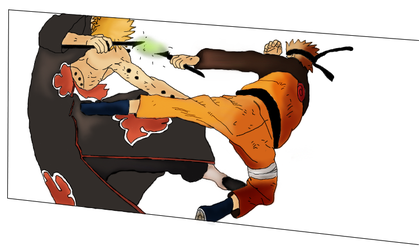 Naruto and Pain - Colorize by Wollack