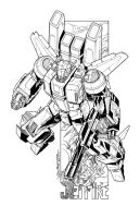 Jetfire commission lineart by markerguru