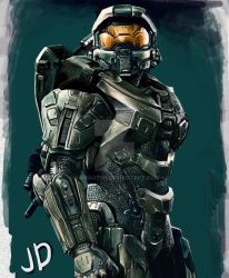 master chief by DaniART90