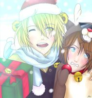 [FNaF Goldie and Freddy] ~ Cristmas is coming! by CherrySketch