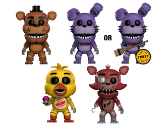 HeroGollum's Stylised FNaF POP! Vinyls (Cinema 4D) by HeroGollum