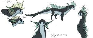 Vaporeon design for gijinkas by umbbe
