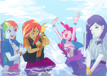 Pool Party! by AmazingPuffhair