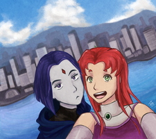 Selfie from the tower by VanillaSkyWolf