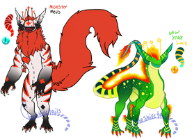 Monster luck CCCat guest adopts CLOSED by Cheshiretails