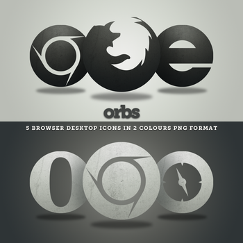 Orbs: Browser Icons by HeskinRadiophonic