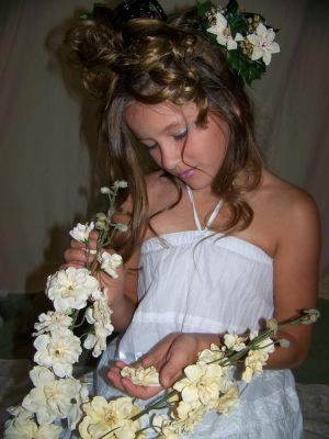 Carah White Flowers by SophStock