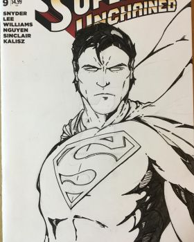 WIP Superman sketchcover INKS by JasonScholte