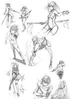Doodles day 8/10/2014 on Sai Tools by keishajl