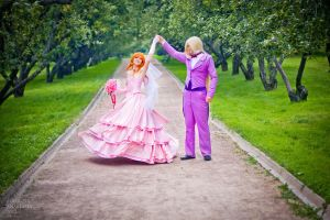Lina and Gourry wedding_4 by GreatQueenLina