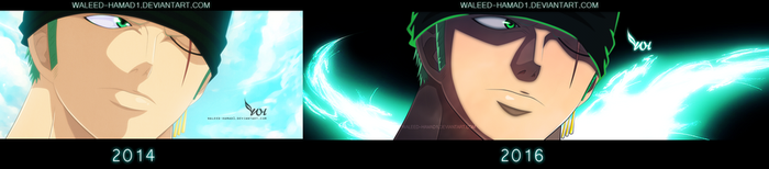 Zoro Before and After by WALEED-HAMAD1