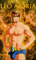Hunky Gold Saints - Aioria by Luisazo