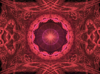 red red red fractal by TanithLipsky